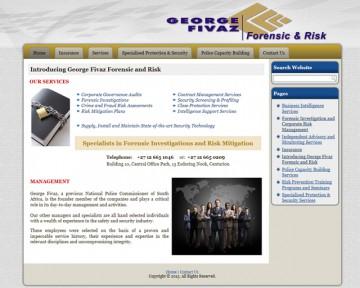 George Fivaz Forensic and Risk - Website Design by Nerdshop