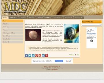 Millennium Data Consultants - Website Design by Nerdshop