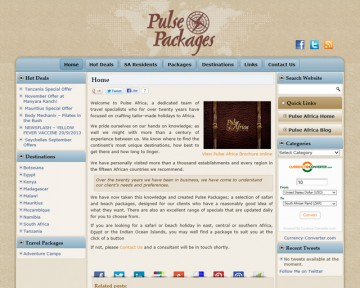 Pulse Packages - Pulse Africa - Website Design by Nerdshop