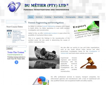 Du Métier - Forensic Engineering and Investigations - Website Design by Nerdshop