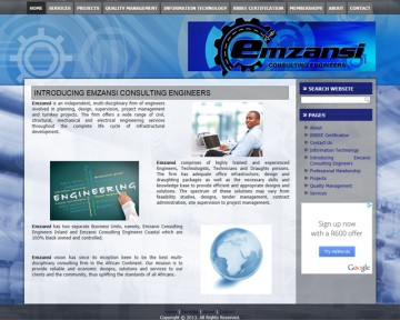 Emzansi Engineering - Website Design by Nerdshop
